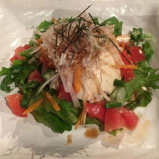 おぼろ豆腐とトマトのサラダ(山遊木 (さんゆうき))