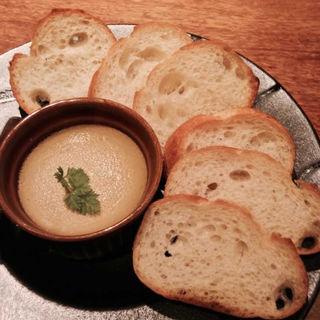 フォアグラと鶏レバーのパテ(炭焼き 大)