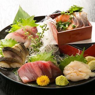 刺身5点盛り(個室Dining 楽 )