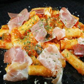 生ハムと彩り野菜のトマトソース ショートパスタ(エル バルコ )