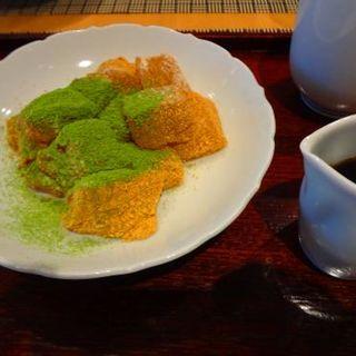 蓮根餅の和三盆(福寿園京都本店 京の茶寮 )