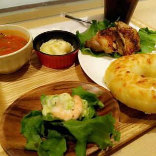 おかずと小鉢の定食(ベーグル&ベーグル 横浜ルミネ店 (BAGEL&BAGEL))