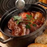 牛タンと根野菜のストーブ仕込み