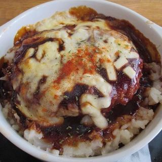 煮込みハンバーグときのこのチーズドリア(みっきー食堂 )