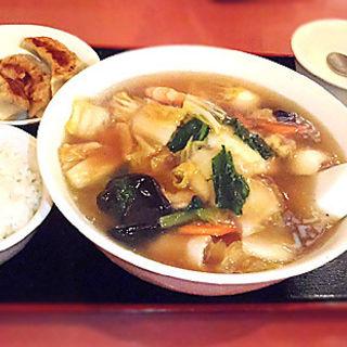 五目ラーメンセット(熊猫飯店 ぱんだはんてん 横浜中華街)