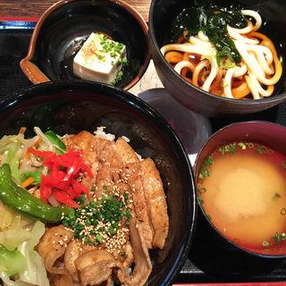 豚味噌炒め丼セット(陣や 恵比寿本陣 (じんや))