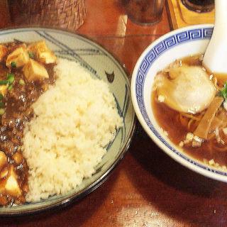 四川麻婆豆腐丼セット(えびす飯店 恵比寿店)
