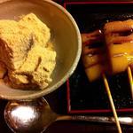 みたらし団子と黒糖わらび餅(梅園 河原町店)