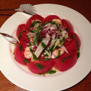 トマトと海老のサラダ(モナリザン)