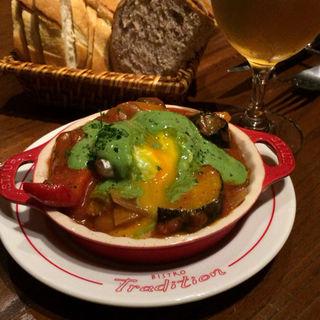 夏野菜のラタトゥイユ ポーチドエッグ添え(トラディシオン)