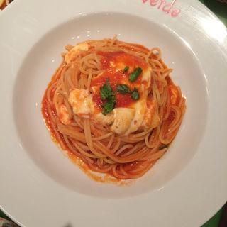 トマト・バジル・モッツァレラチーズのスパゲッティー(ヴィヴィ ヴェルデ (vivi verde))