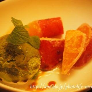 おさつバターの抹茶アイス添え(ごだいご新宿武蔵野ビル店)