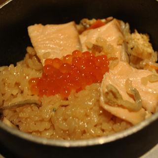 鮭の釜飯(ゆずの花)