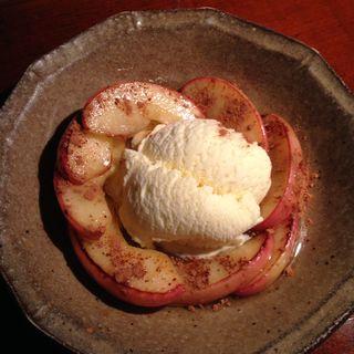 りんご焼きアイス(かくれが酒房 けんぞう )