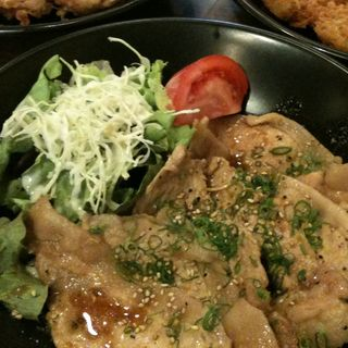 生姜焼きランチ(紅とん 茅場町店 (べにとん))