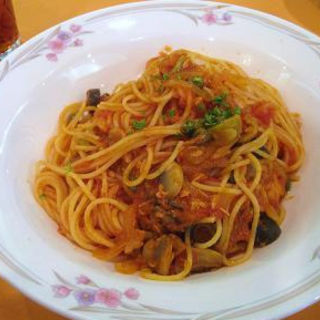 ツナとトマトのプッタネスカランチ(レストラン ラ・セーヌ )