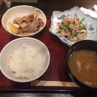 ランチ生姜焼き(うしのほね あなざ )