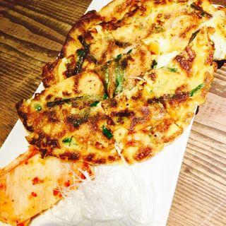 海鮮チヂミ(旨し酒 風丹 )