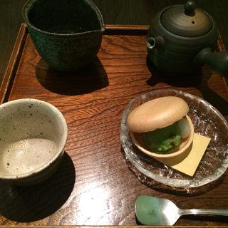 あいす最中日本茶セット(西村屋 花みかげ)