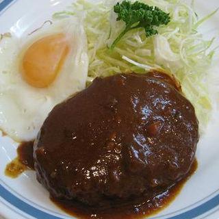 ハンバーグ定食(まるやま食堂 )