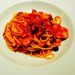 前菜盛り合わせ+キノコのミートソーススパゲティー(ヴィヴィ ヴェルデ (vivi verde))