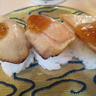 炙りカマトロ三貫(廻転寿司 海鮮)