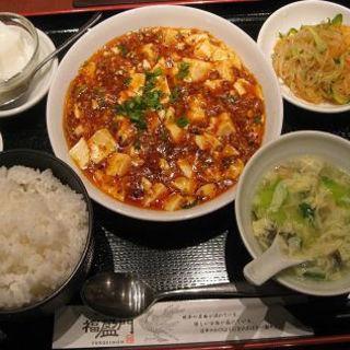 麻婆豆腐セット(香港酒家 福盈門)