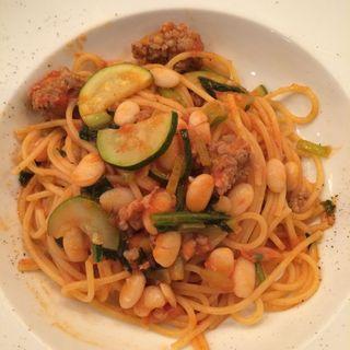 サルシッチャと夏野菜のパスタ オレガノ風味(D'ORO (ドーロ))
