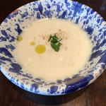 ジャガイモと生ハムの冷製スープ(DONNA)
