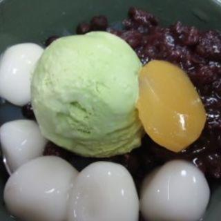 抹茶あんみつ((株)梅園)