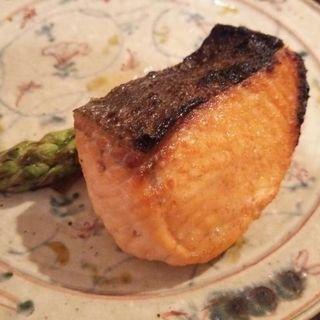 マスの塩焼き(ディナーコース)(日本料理 太月)