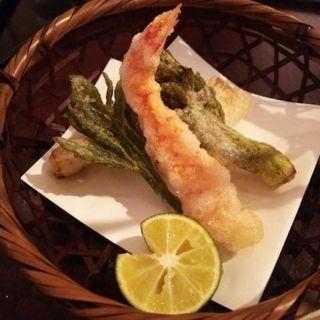 はくせん揚げ(ディナーコース)(日本料理 太月)