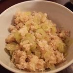 フキと鶏そぼろの炊き込みご飯(ディナーコース)