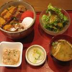 自家製メンチカツ丼定食(魚沼食堂)
