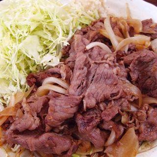 和牛生姜焼き定食(サンオリーブ )