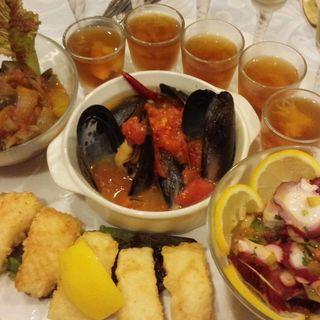 前菜の盛り合わせ(ディナーコースB)(イタリア食堂 Vino Uno)
