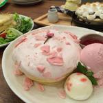 桜のパンケーキ