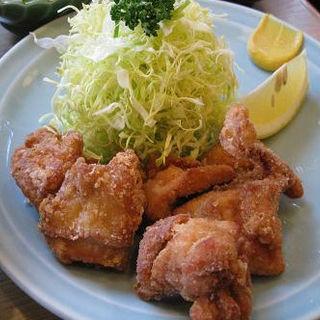 鳥の唐揚げ定食(三州屋本店 (さんしゅうやほんてん))