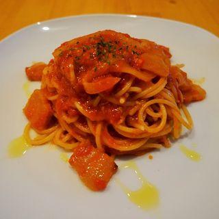 パンチェッタとフレッシュトマトのパスタ(きむらさん家 )