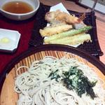 海老と野菜の天ぷらそば
