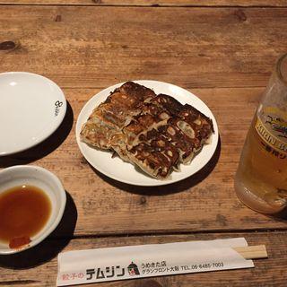 ビールと餃子のセット(テムジン 大阪うめきた店 )