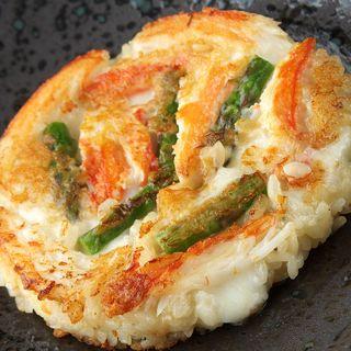 ずわい蟹とチーズのリゾット風おやき(なだ万 汐留47 (【旧店名】ジパング カレッタ汐留店))