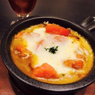 3種のチーズと完熟トマトの焼きカレー(サロン ド チャイ 東武船橋店 (SALON de CHAI【旧店名】天馬カリー))