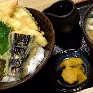 大海老天丼とミニウドン(三ツ島 真打)