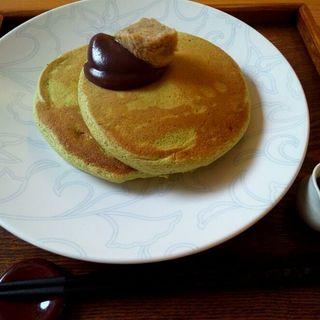 抹茶のホットーケーキ(うめぞの カフェアンドギャラリー (うめぞの CAFE & GALLERY))