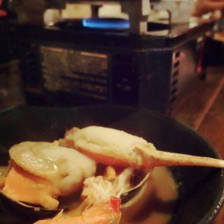 雲丹の黄金鍋