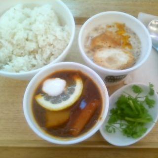 SSセット(東京ボルシチ、豆チャンスープ)ご飯大盛り(スープストックトーキョー 京急品川店 (Soup Stock TOKYO))