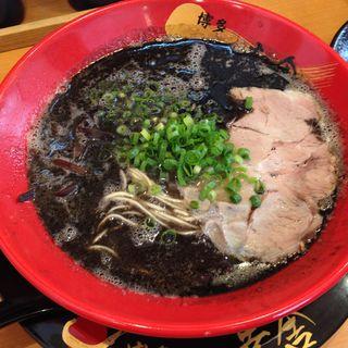黒ラーメン(博多一幸舎 博多本店)