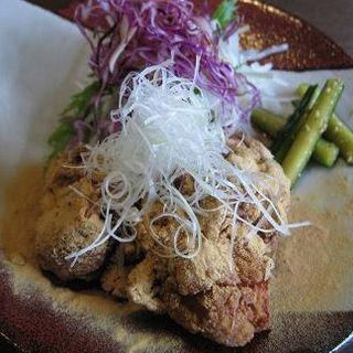 鶏もも肉のたつた揚げ定食 前菜付き(日本食 ゆうがた)