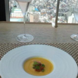 ソラシード カボチャの冷製スープ(ラ・ソラシド フードリレーションレストラン (LA SORA SEED FOOD RELATION RESTAURANT ))